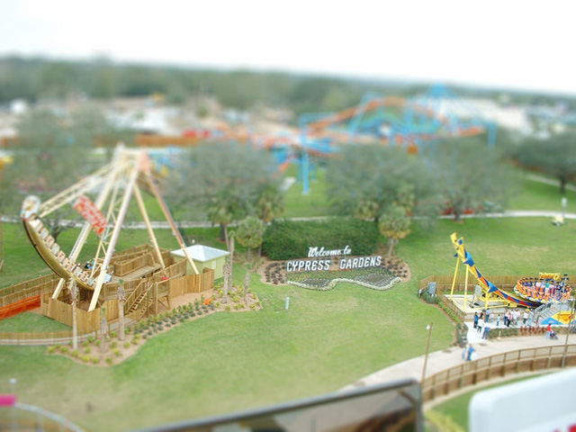 Tilt Shift Cypress Gardens