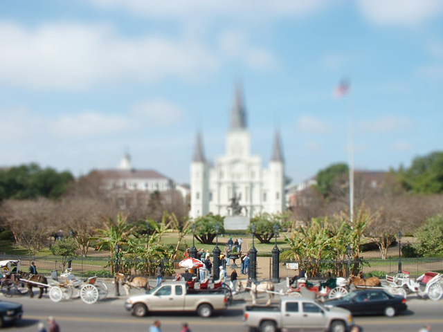 Tilt Shift Jackson Square, New Orleans